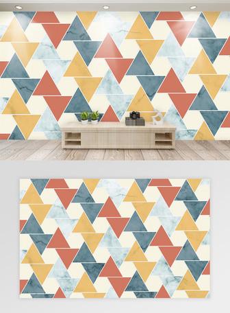 モダンなミニマルなカラフルな幾何学的な菱形の背景の壁 テンプレート