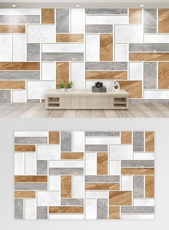 現代簡約抽象幾何大理石背景牆 模板