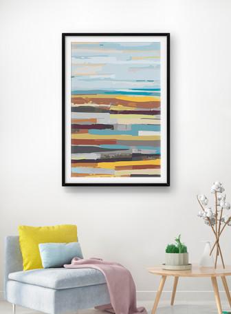 Tableau décoratif abstrait couleur Modèles