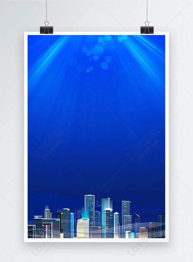 blue technology building background