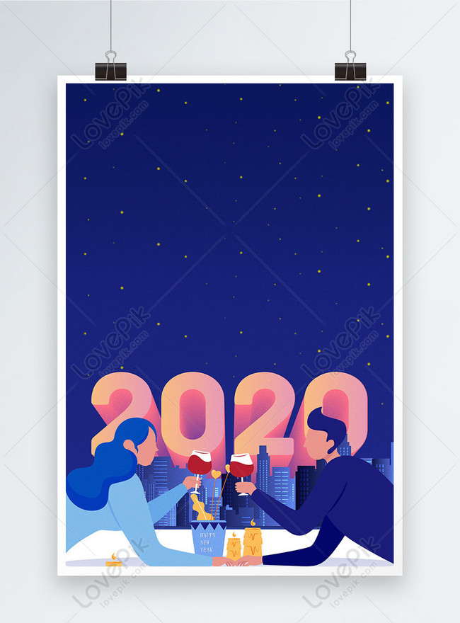 2020 year of the rat new years eve poster background