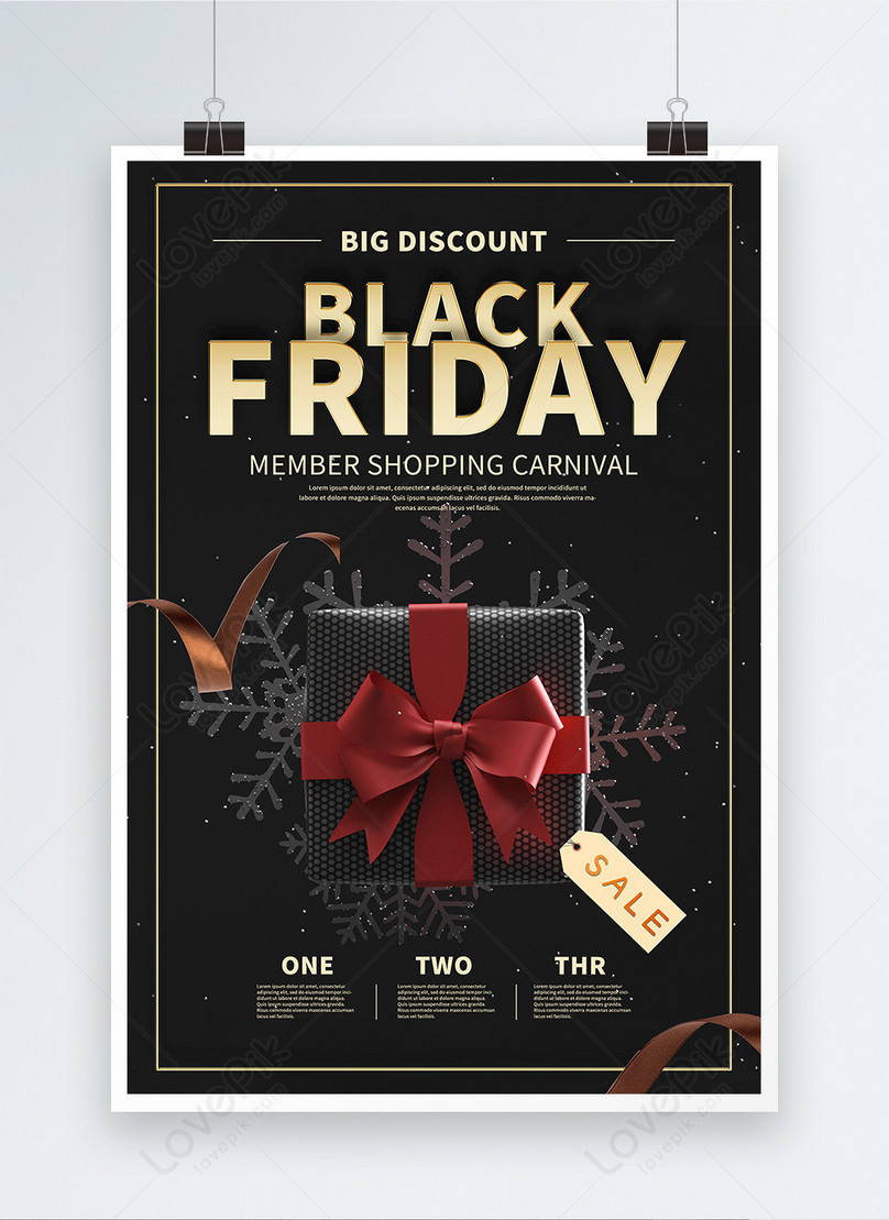 pure english black friday supermarket promotion poster