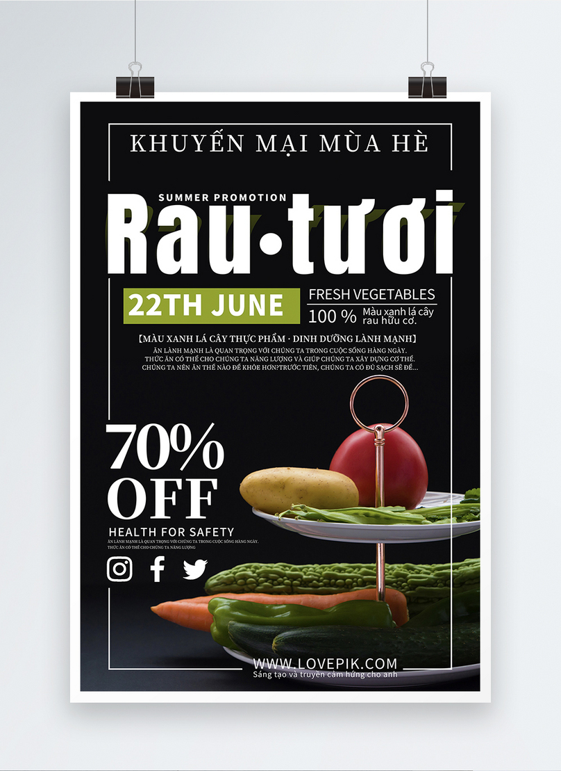 vegetable and fruit promotion poster