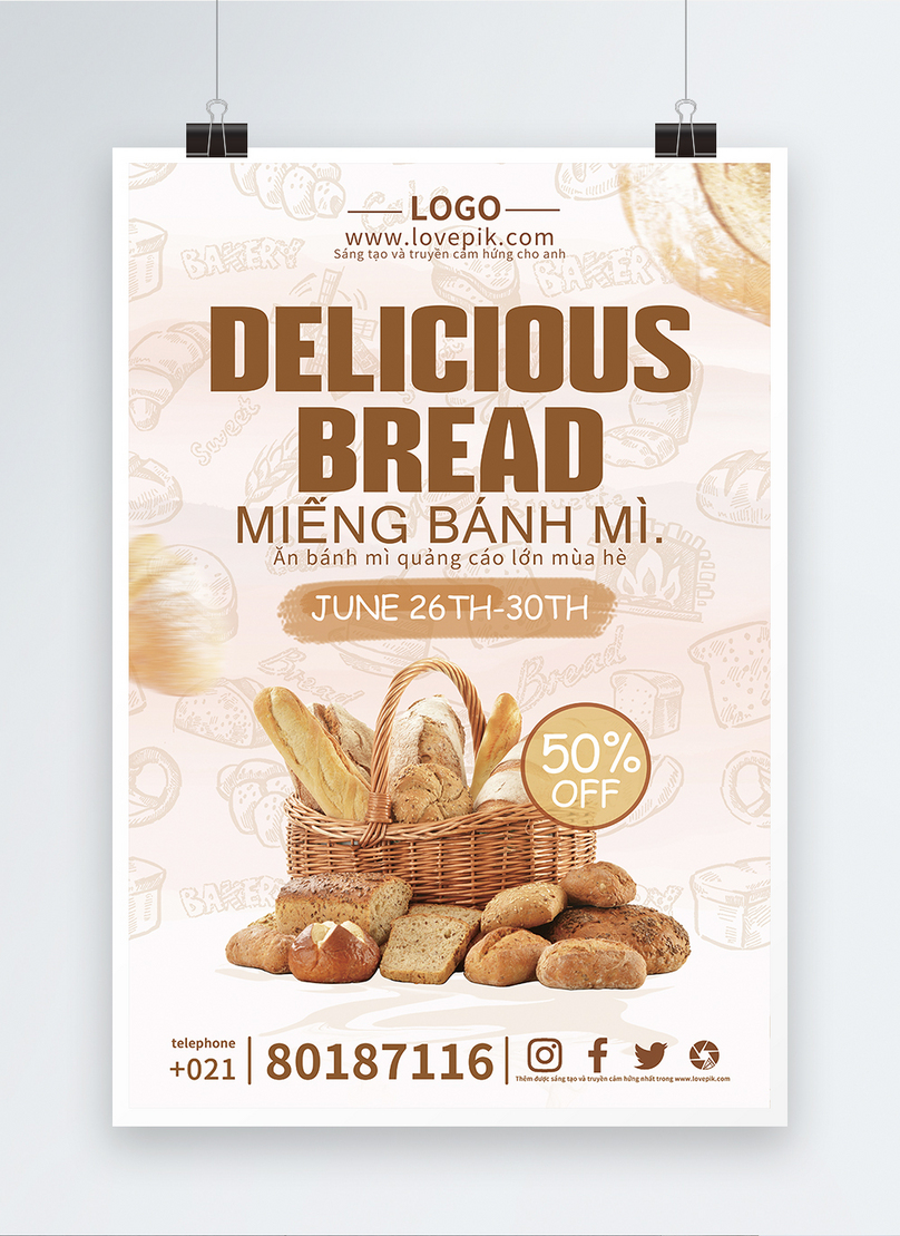 bread promotion poster
