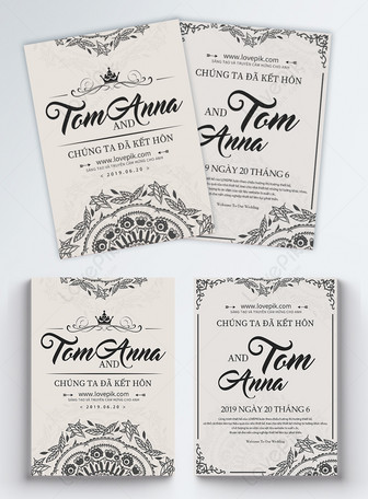Wedding invitation flyer Templates