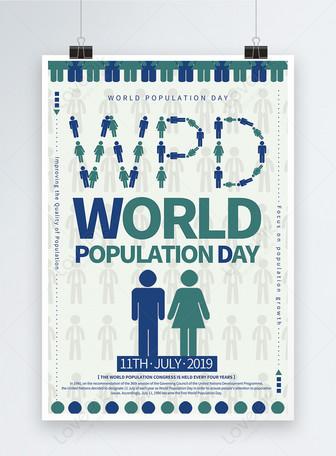 Póster del Día Mundial de la Población Plantillas