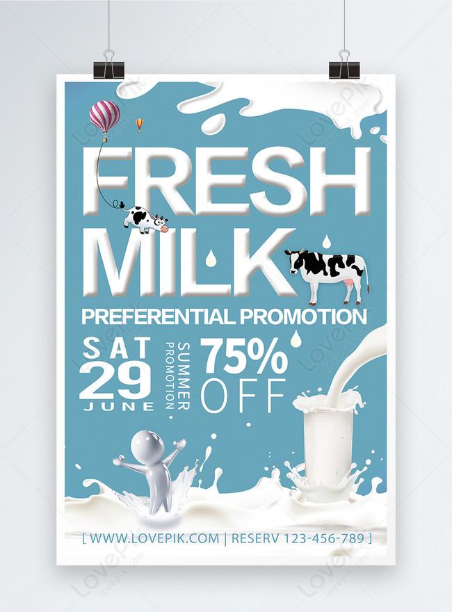 Poster Promosi Susu Gambar Unduh Gratis Templat 450000125 Format Gambar Psd Lovepik Com