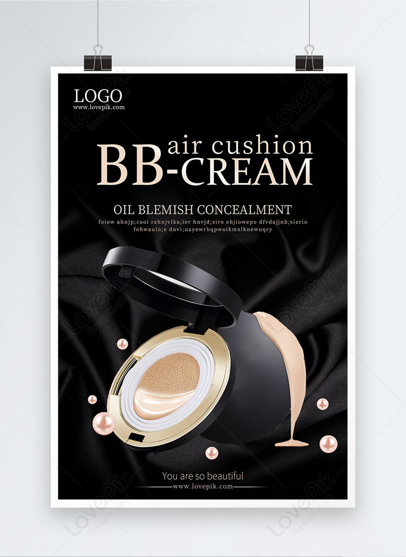 bb cream cosmetics publicity poster
