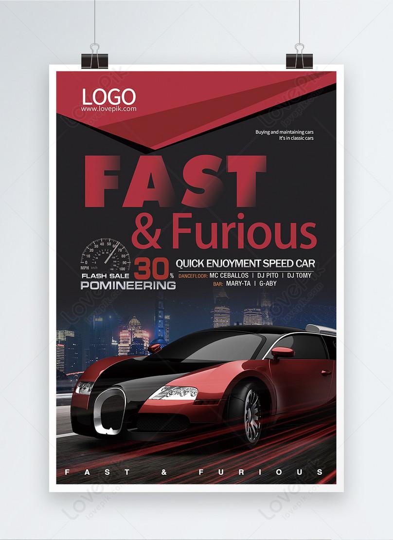 car sales promotion poster