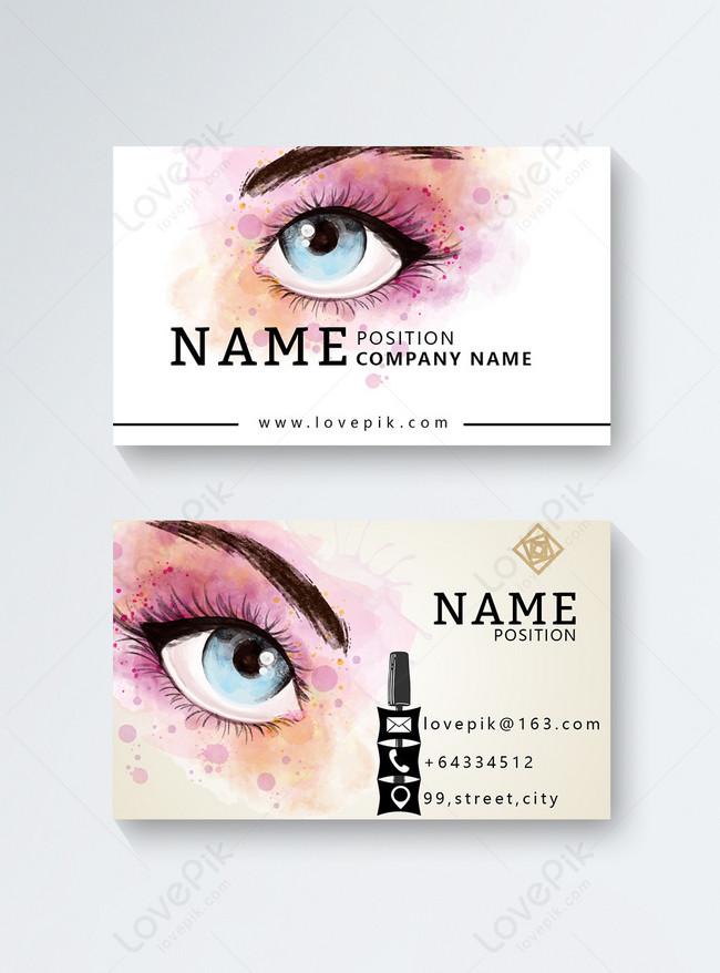 Makeup Artist Business Cards Template