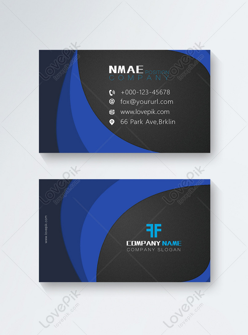 high end business card