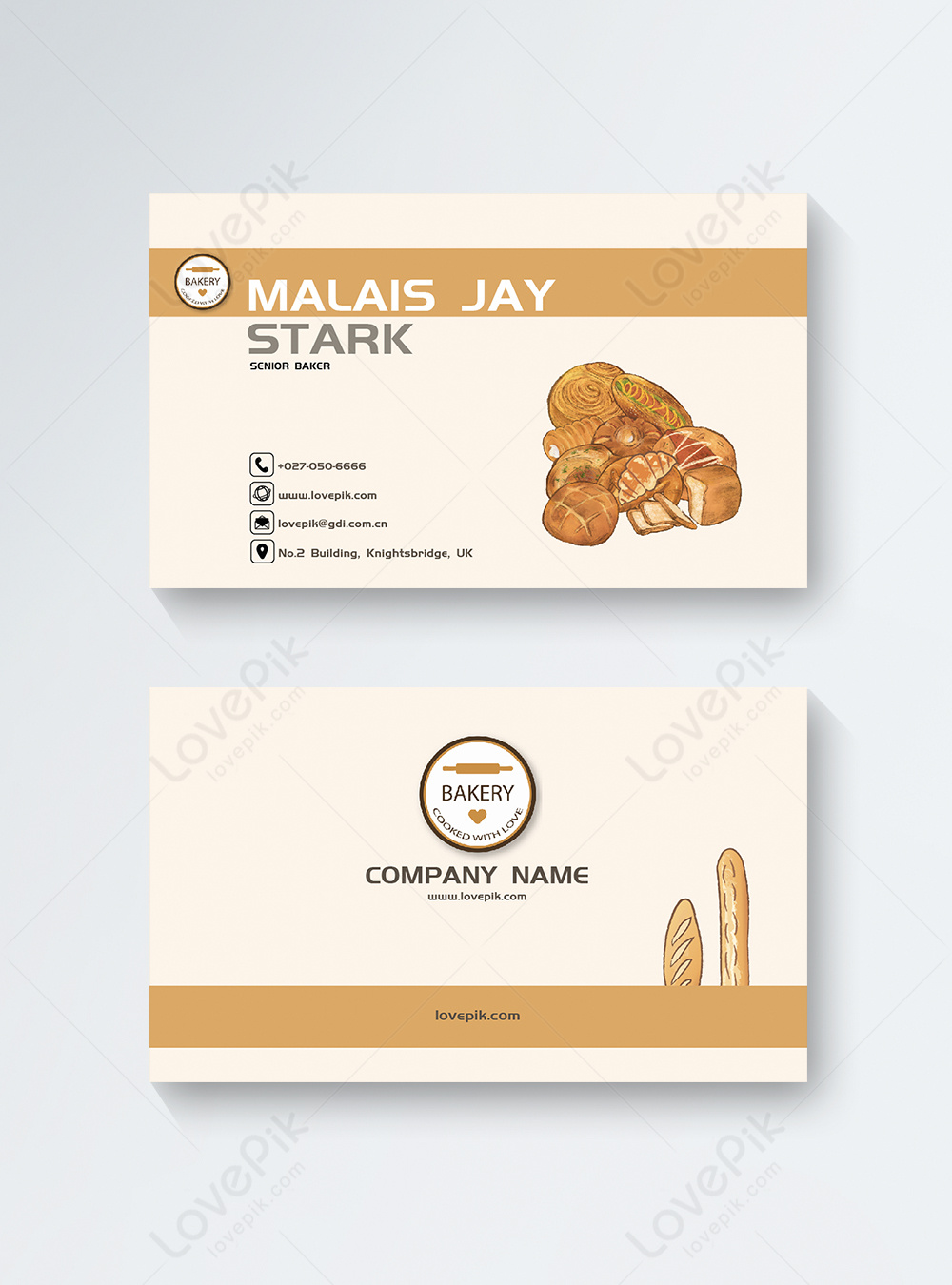 Bakery Business Cards Template Image Picture Free Download 450000351 Lovepik Com