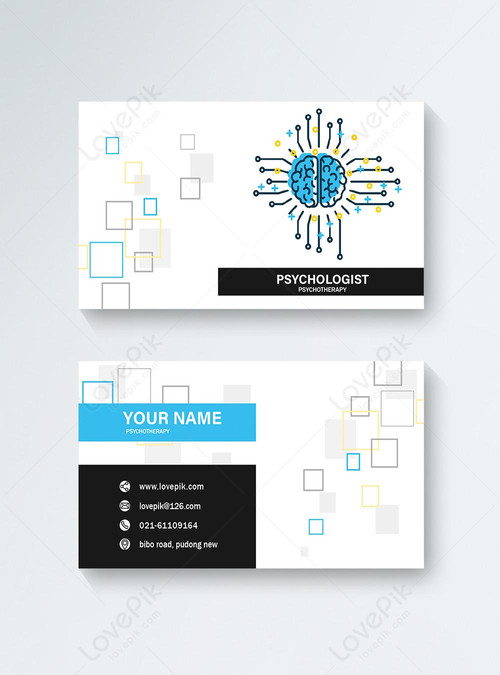 Psychologist Business Card Template Image Picture Free Download 450000380 Lovepik Com
