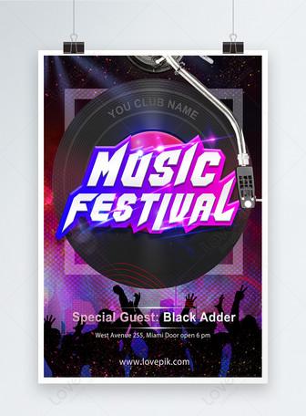 Cartaz do festival de música Modelos