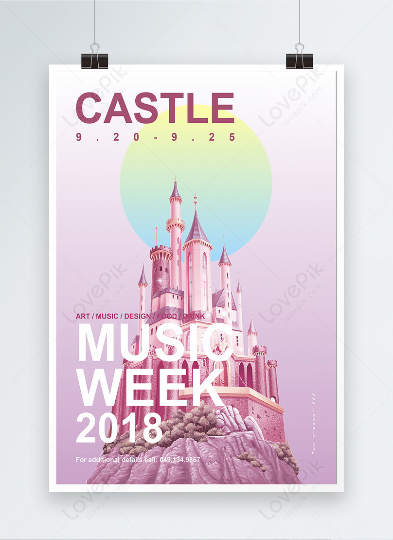 abstract music week poster
