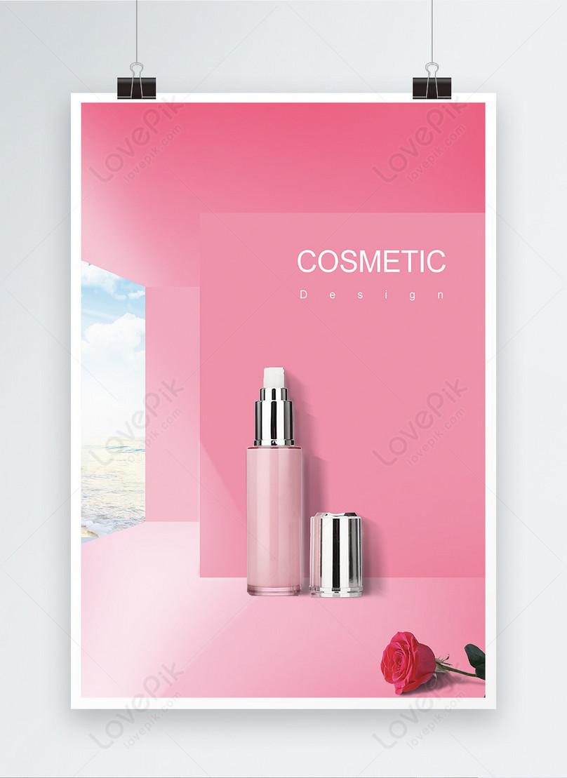 beautiful pink cosmetics poster