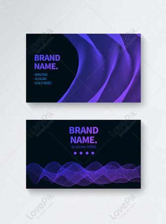 Linha abstrata da tecnologia da cor cartão abstrato do negócio d Modelos