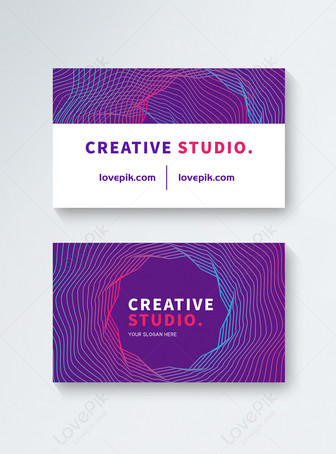 Kartu Bisnis Gaya Busana Kreatif Templat