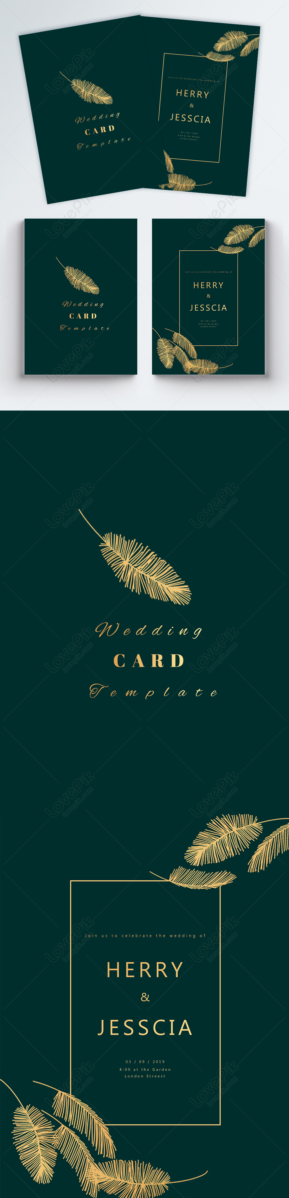 Simple Emerald Wedding Invitation Card Template Image Picture Free Download 450000837 Lovepik Com
