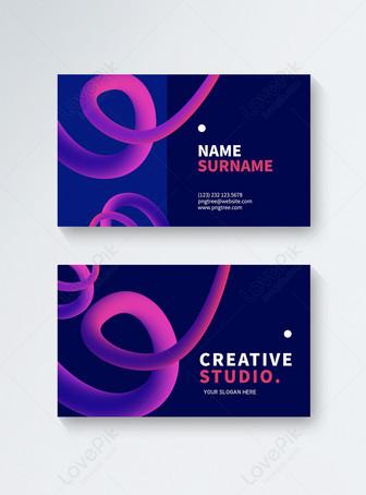 الظلام أزياء خط تصميم نمط الأعمال الإبداعية بطاقة قوالب