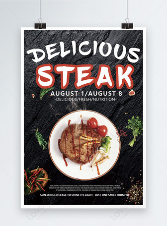 Western Steak Poster Vorlagen