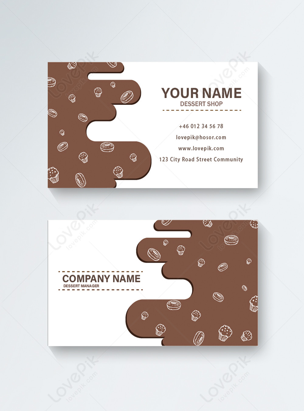 Chocolate Cake Dessert Business Card Template Image Picture Free Download 450001179 Lovepik Com
