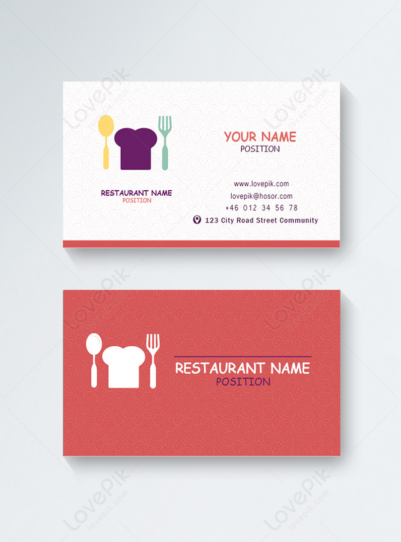 leisure restaurant food business card