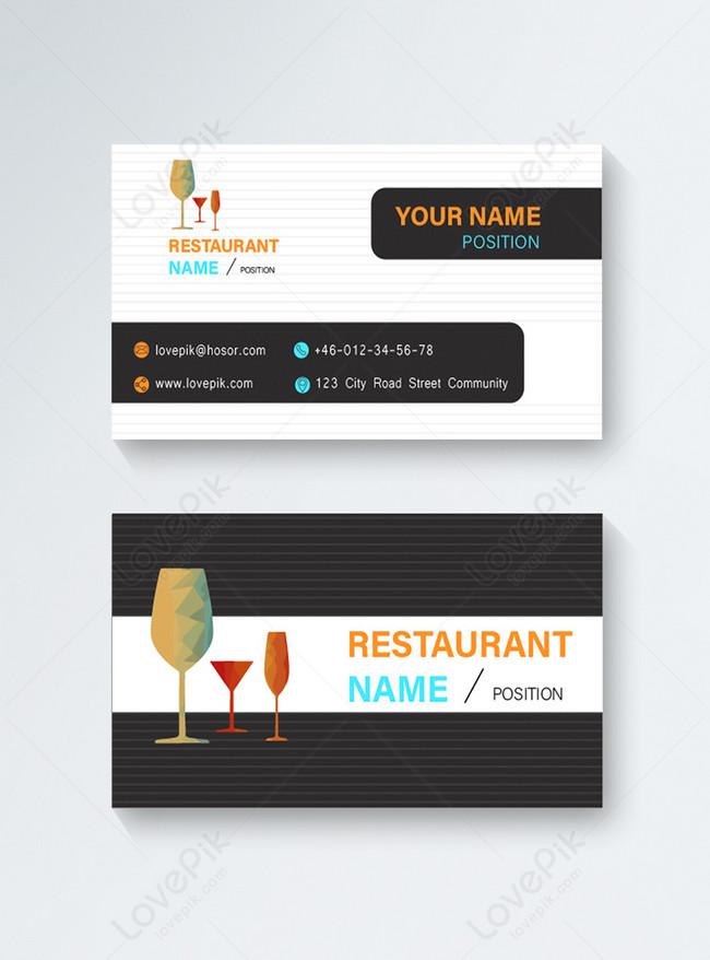 bar restaurant business card