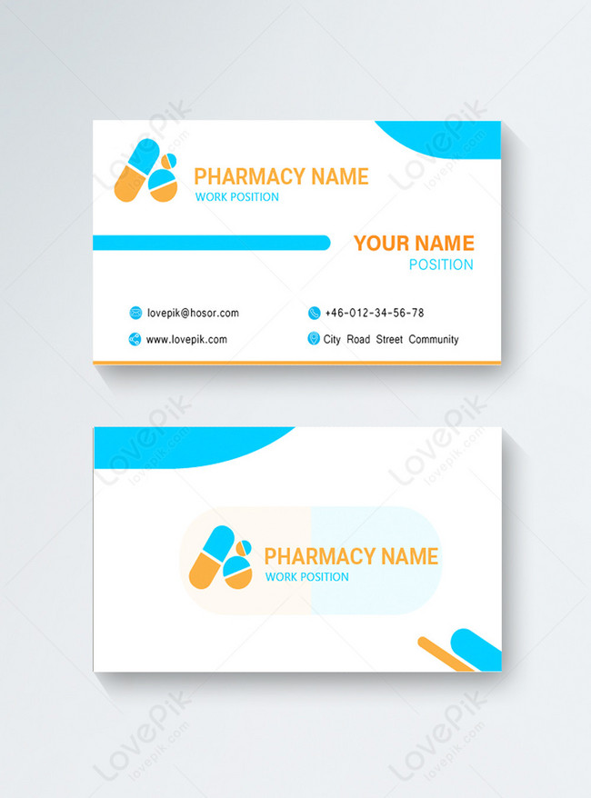 protected health pharmacy business card