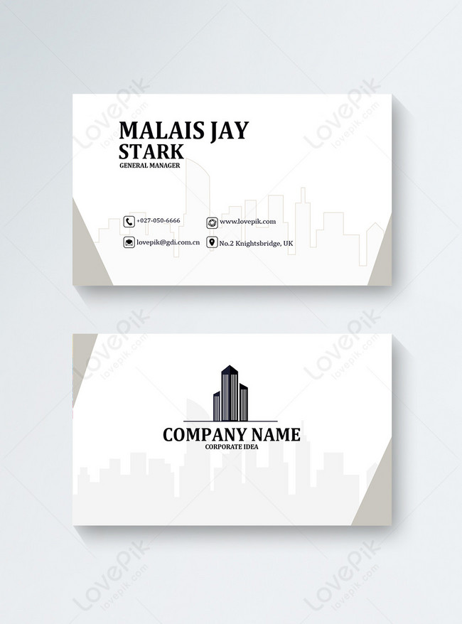 Minimalistic Construction Industry Business Card Template Template