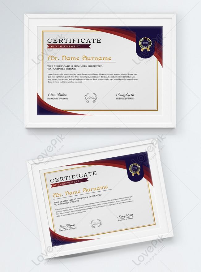 horizontal diploma and certificate template