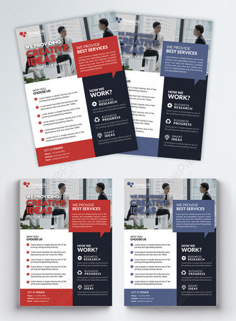 Red business flyer Vorlagen