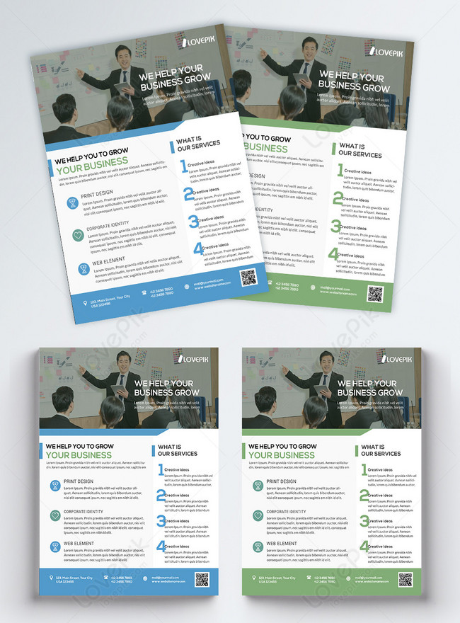 blue company business flyer