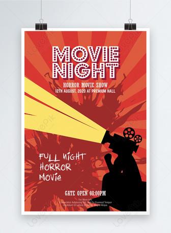 Красные плакаты для киномаркетинга Шаблоны