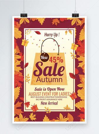Big Autumn Sale Discount Templates Poster Szablony