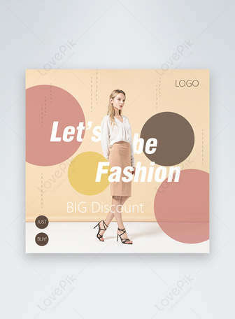Yellow Pink Grace Style Clothes Promotion Instagram Post Templates