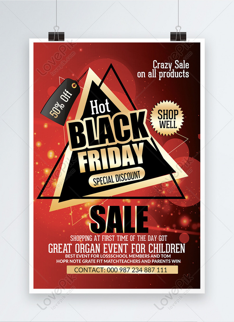 red black friday poster