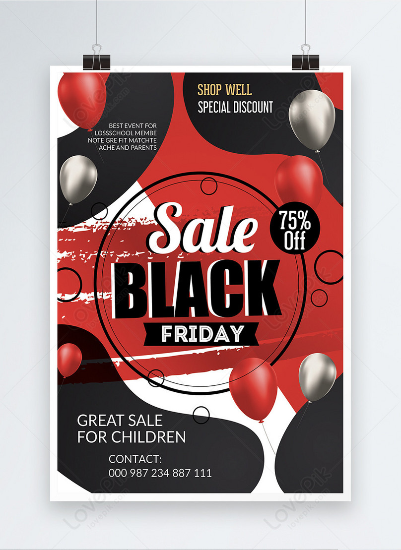 memphis style black friday poster