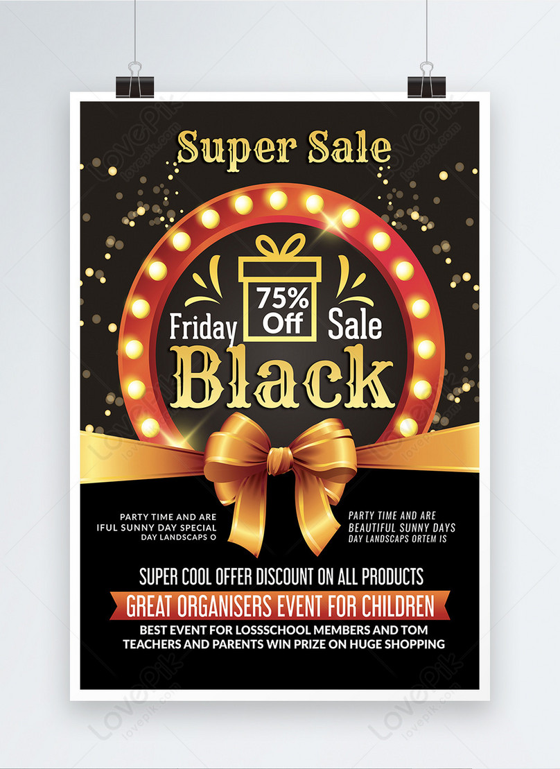 supper sale black friday poster