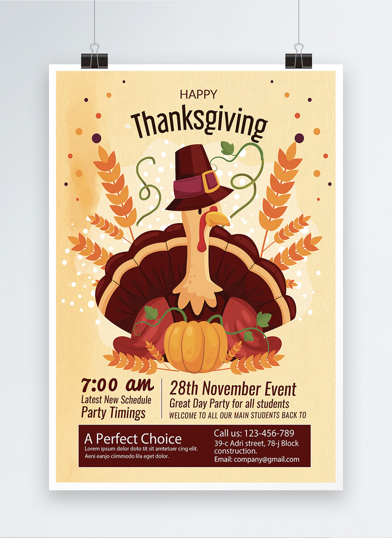 modelo de cartaz festa de agradecimento