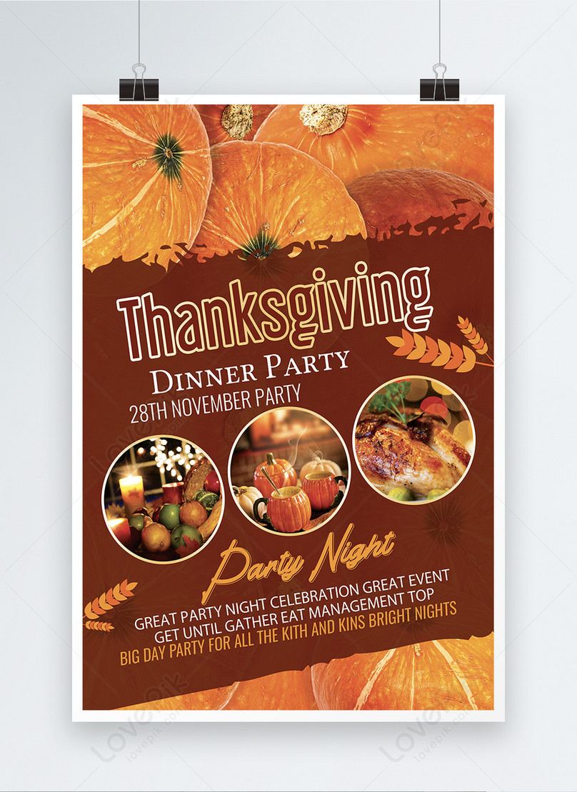 Thanksgiving Dinner Night Poster Template Template Image Picture Free Download 450001548 Lovepik Com