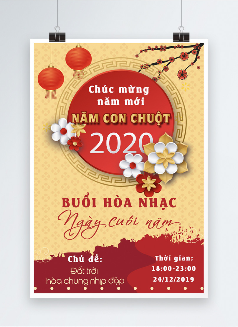 vietnamese year end concert party event poster