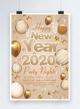 Affiche de la soirée du nouvel an Modèles