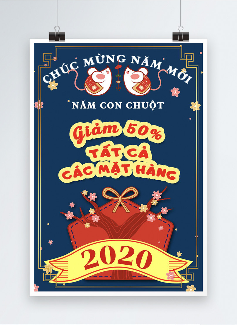 vietnamese year of the rat sales promotion poster