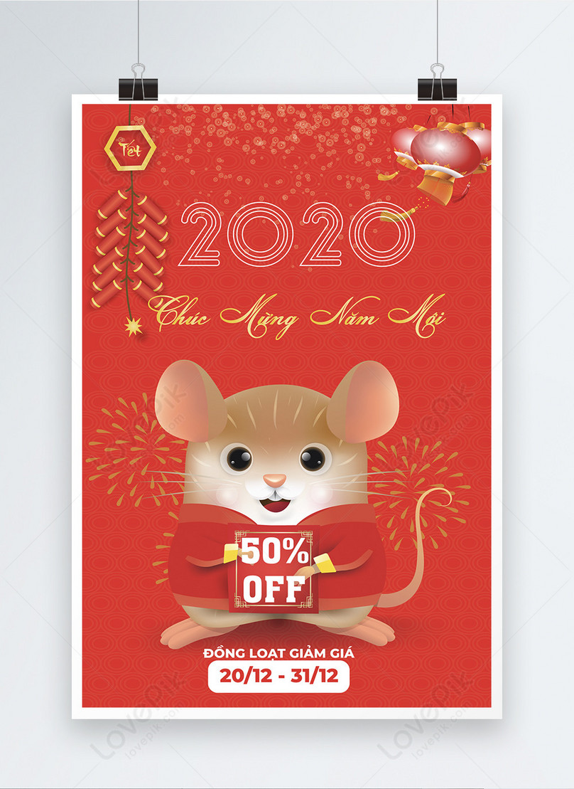 happy new years promotion poster of the rat year