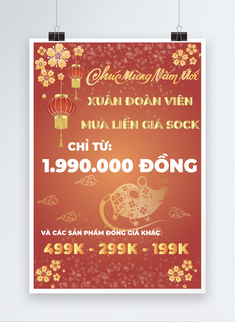 vietnamese happy new year sale poster