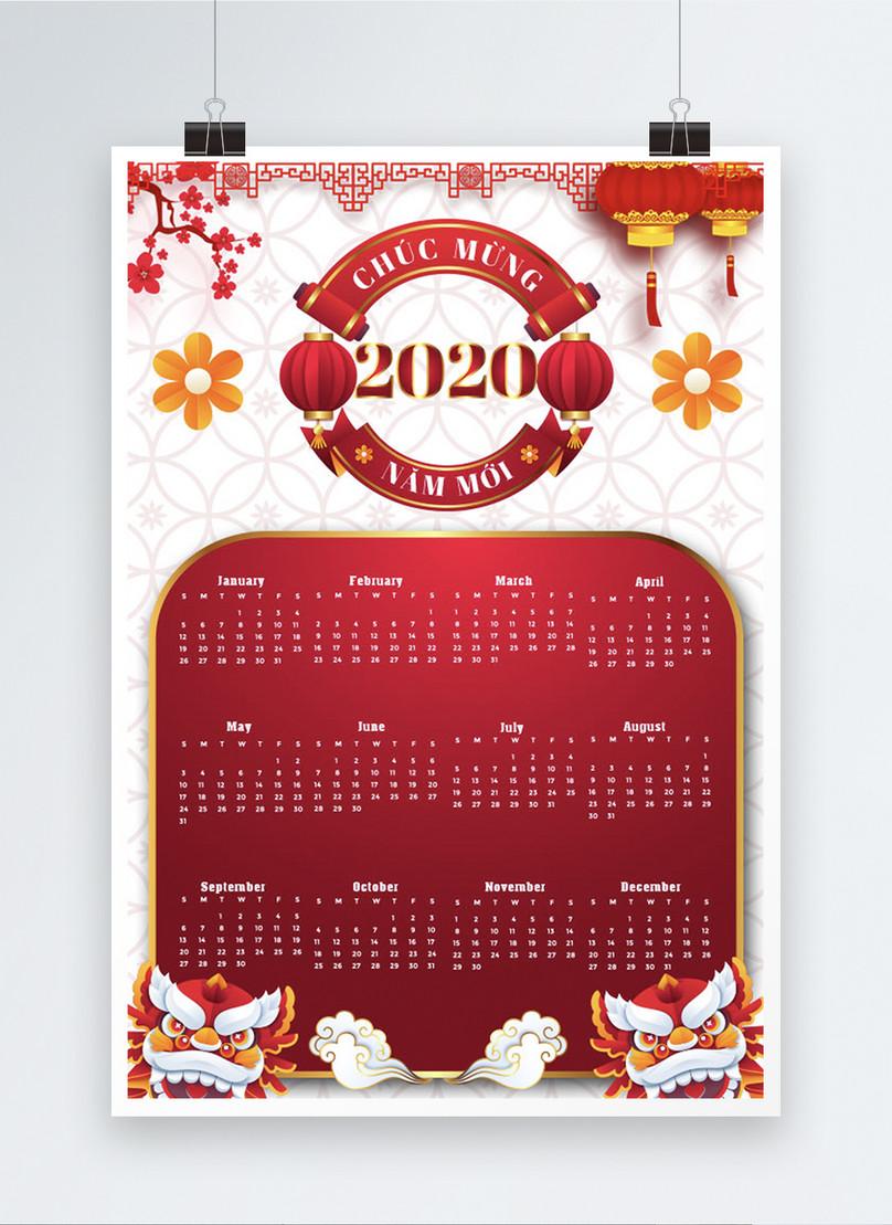 vietnamese year of the rat 2020 calendar