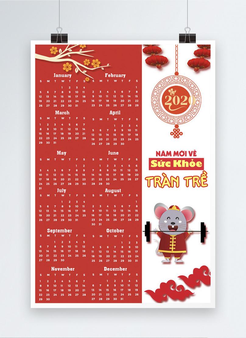 vietnam 2020 year of the rat calendar