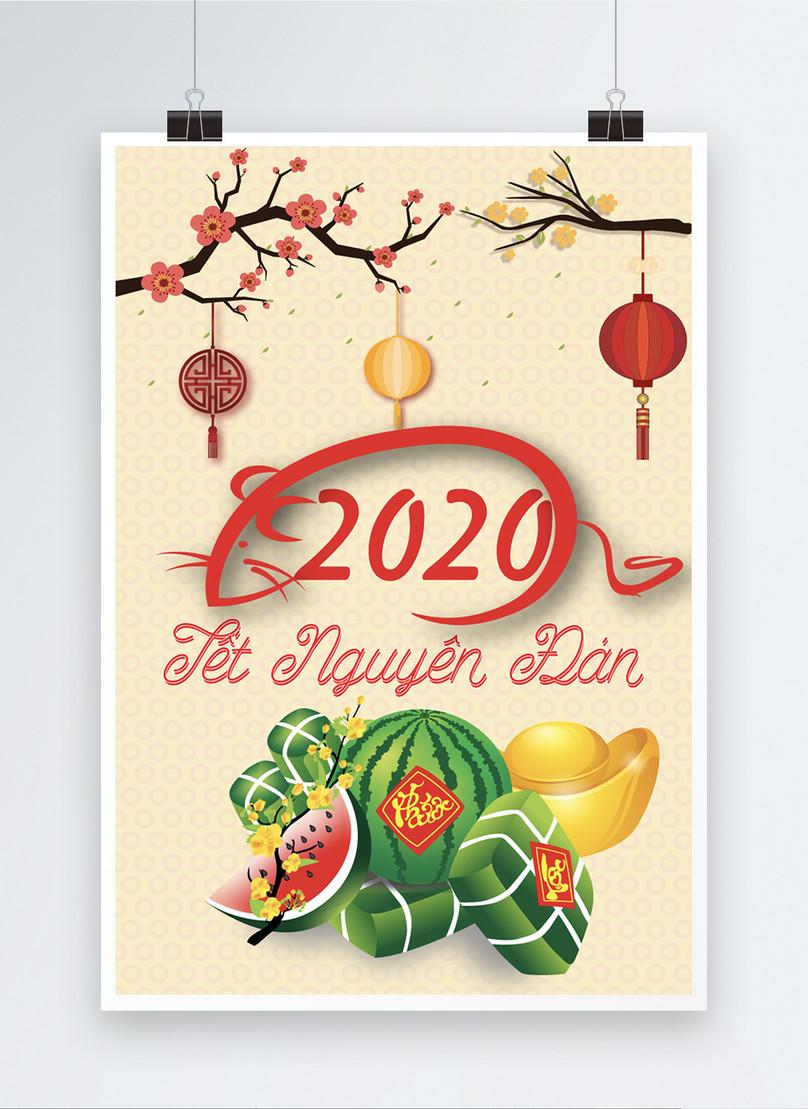 vietnamese lunar new year 2020 poster