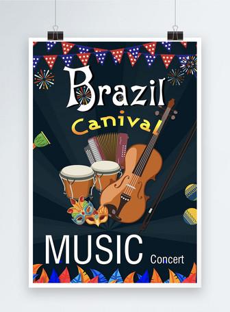 Poster konser musik canvil Brasil Templat